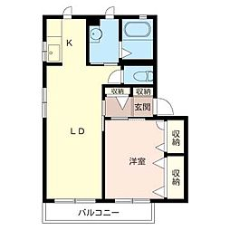 クワトロハウス[2階]の間取り