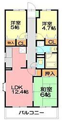 湘南山の手マンション[5階]の間取り