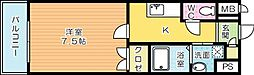 リファレンス小倉駅前[5階]の間取り