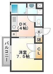 ステラハウス30[116号室]の間取り