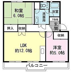駿河ハイツ[3階]の間取り