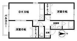 サン・ロック14A棟[202号室]の間取り