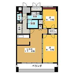 グラン・アベニュー名駅[13階]の間取り