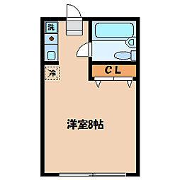 ▲△ロイヤルハイム[2階]の間取り
