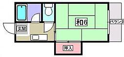 宇山コーポA棟[1階]の間取り