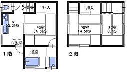 広島県呉市阿賀中央9丁目の賃貸アパートの間取り