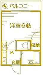 安西六番館[2階]の間取り