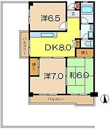 ヨコオマンション[2階]の間取り