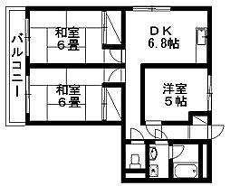 上所ホワイトハイツ[4階]の間取り