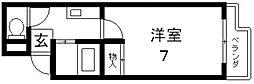 大宝長田ルグラン[705号室号室]の間取り