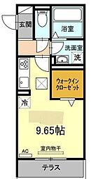 名鉄名古屋本線 矢作橋駅 徒歩25分の賃貸マンション 1階ワンルームの間取り