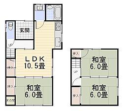 [一戸建] 石川県金沢市円光寺3丁目 の賃貸【/】の間取り