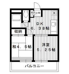 東京都新宿区西落合4丁目の賃貸マンションの間取り