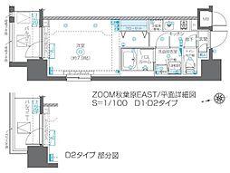 JR総武線 浅草橋駅 徒歩5分の賃貸マンション 7階1Kの間取り