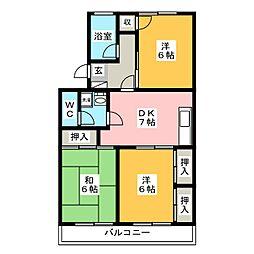 尊和ビル[5階]の間取り