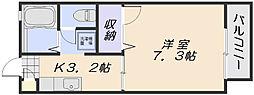 サントーク伴 B棟[2階]の間取り