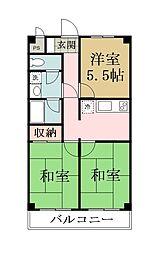 メゾンヨシザワ[102号室]の間取り
