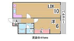 兵庫県神戸市中央区大日通2丁目の賃貸マンションの間取り