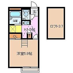 NEW TAKAHAMA[205号室]の間取り