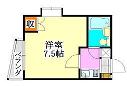 山京マンション[401号室]の間取り