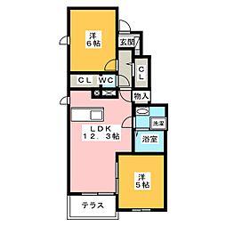 メゾン・ジュネス I[1階]の間取り