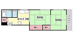 ERCコート六甲道[3号室]の間取り