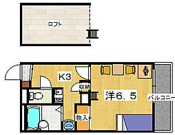レオパレスReveuer[2階]の間取り