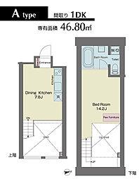 LUXENA HIGASHI-KOENJI[304号室]の間取り
