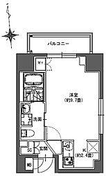 S-RESIDENCE東神田 5階1Kの間取り