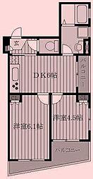 東京都北区西が丘1丁目の賃貸マンションの間取り