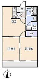 愛知県岡崎市日名西町の賃貸アパートの間取り