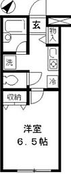 東京都渋谷区上原3丁目の賃貸アパートの間取り