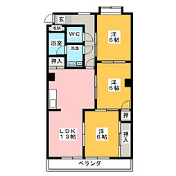 エミナンス弥富ヶ丘[3階]の間取り