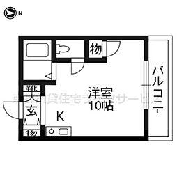 FORUM祇園[102号室]の間取り