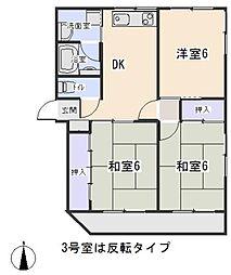 リバーストーン(東大友町)[2階]の間取り