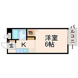 プチハウス西立花[2階]の間取り