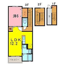 仮)安城市和泉町アパート[303号室]の間取り
