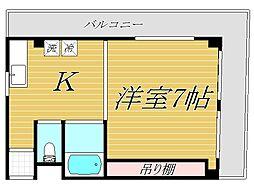 第一コーポ安本[3階]の間取り