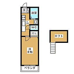 マーヴェラス荒井弐番館[2階]の間取り