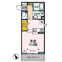 (仮)新堀D-room[201号室]の間取り