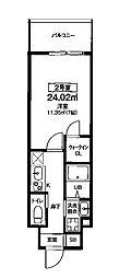 Osaka Metro堺筋線 扇町駅 徒歩8分の賃貸マンション 6階1Kの間取り