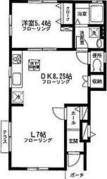 クレール1[1階]の間取り
