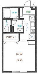 神奈川県相模原市中央区清新8丁目の賃貸アパートの間取り