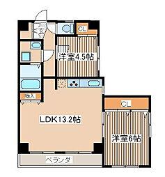 サンシルクマンション[402号室]の間取り