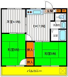 東京都立川市錦町4丁目の賃貸マンションの間取り