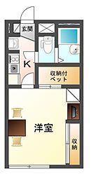 滋賀県大津市坂本6の賃貸アパートの間取り