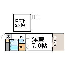 クオーレ塚口[1階]の間取り