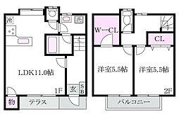 [タウンハウス] 東京都杉並区上井草4丁目 の賃貸【/】の間取り