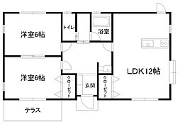 [一戸建] 栃木県足利市福居町 の賃貸【/】の間取り