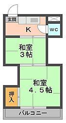 平野荘[11号室]の間取り